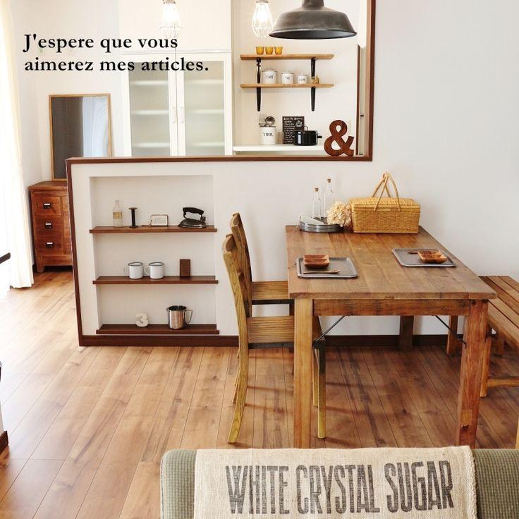 ●カフェ風モデルハウス、ひとまず完成*インテリアコーディネートで気を付けたこと● |・:*:ナチュラルアンティーク雑貨&家具のお部屋・:*|Ameba (アメーバ)