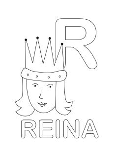 spanish alphabet coloring page r - Spanish Alphabet Coloring Pages