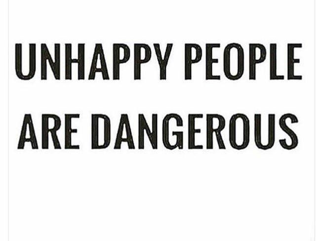 Unhappy, mentally unstable, insecure people are dangerous! They distort the truth to fit their reality rather than just moving on. Your perception of events are seriously out of whack; woman you need help!