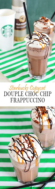 Copy Cat Recipe Starbucks Double Chocolaty Chip Frappuccino