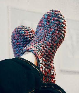 Puschen...Anleitung in Deutsch ;O)  pantoffels/slippers - free crochet pattern written in Dutch