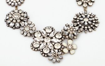"""Crystal Flower"" Necklace. Spring is here! Flowers come to life. www.thehangoutb.com"