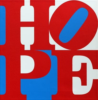 Robert Indiana: Hope (Red, White and Blue), 2008    Screenprint, (silkscreen inks) on canvas