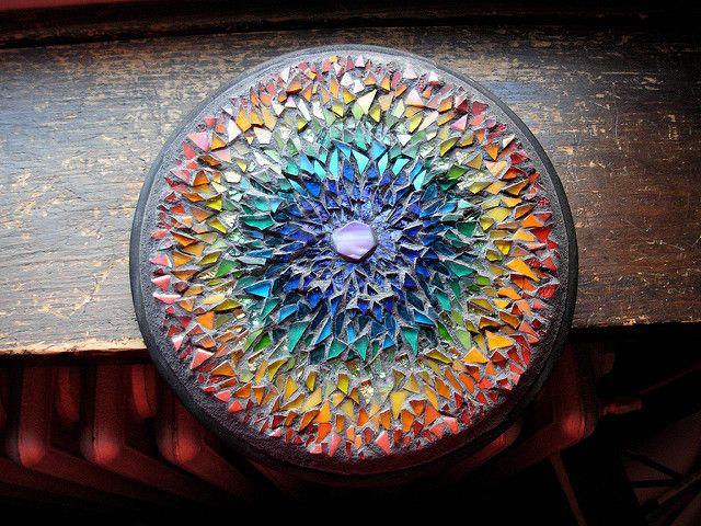 Rainbow Mosaic Mandala by Margaret Almon | Mosaic Mandala by… | Flickr