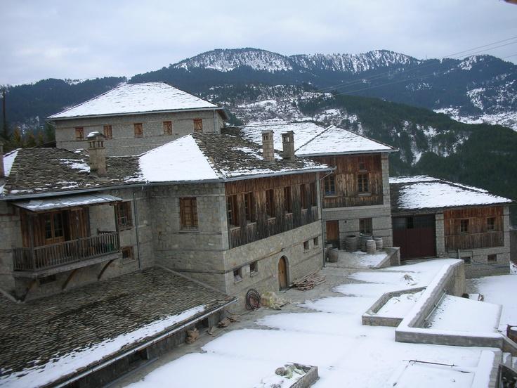 Katogi Averoff with snow
