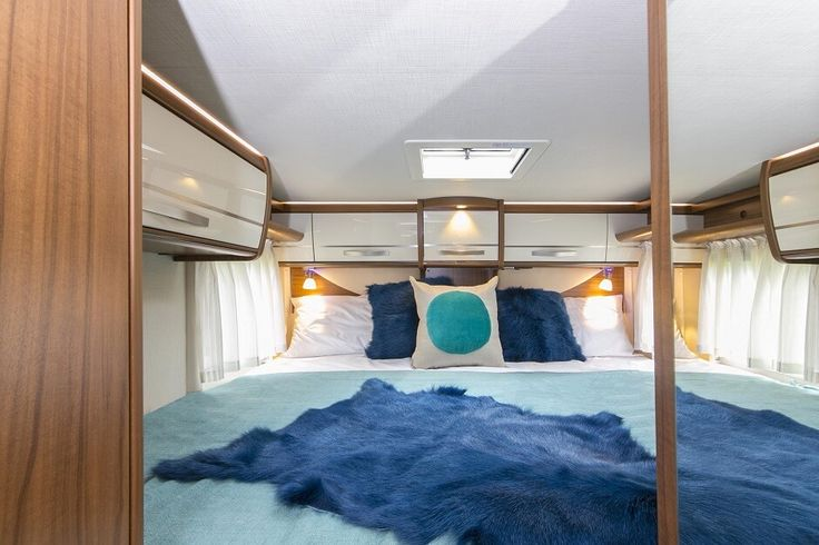 Inside the Hymer ML T580 luxury campervan: Twin beds can easily be converted into a king bed. Feel free to use this image but give credit to http://smartrv.co.nz/motorhomes-for-sale/german/hymer/ml-t-580-4x4