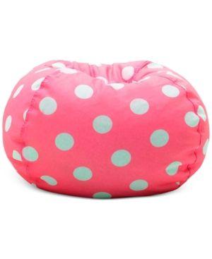 Brooke Classic Bean Bag Chair, Quick Ship - Pink