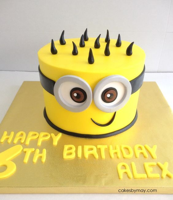 Minion  theme Birthday cake. Want the best birthday cake for your little one. Find the best Bakers in town on www.Bakejoyclub.com