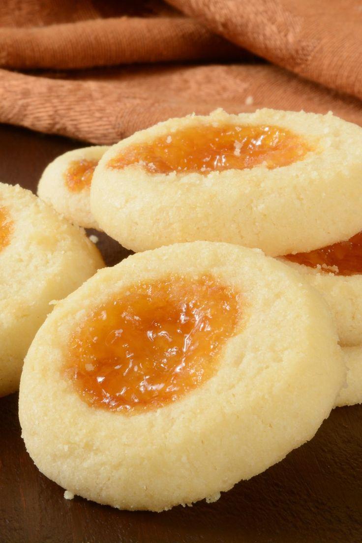 Apricot Cream Cheese Thumbprint Cookies