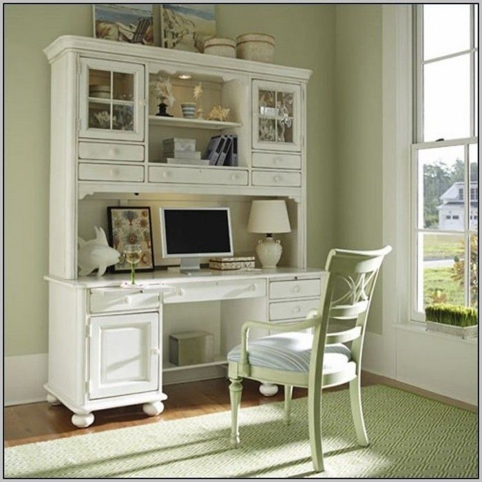sauder corner computer desk with hutch antiqued white finish for home staples