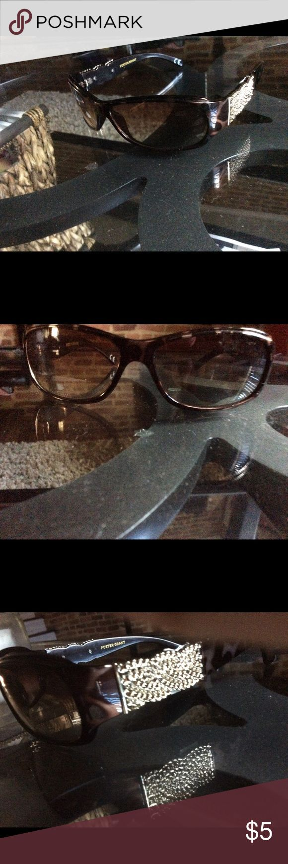 Foster grant Sunglasses Brown Marble with Gold Trim on the side Foster Grant Other