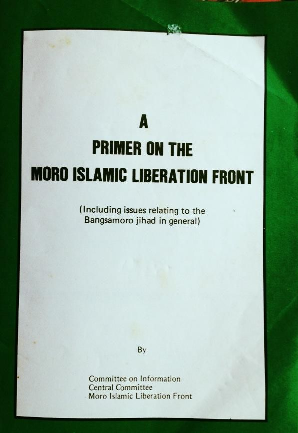 A Primer on the Moro Islamic Liberation Front (Including issues relating to the Bangsamoro Jihad in general)  By Committee on Information Central Commitee Moro Islamic Liberation Front