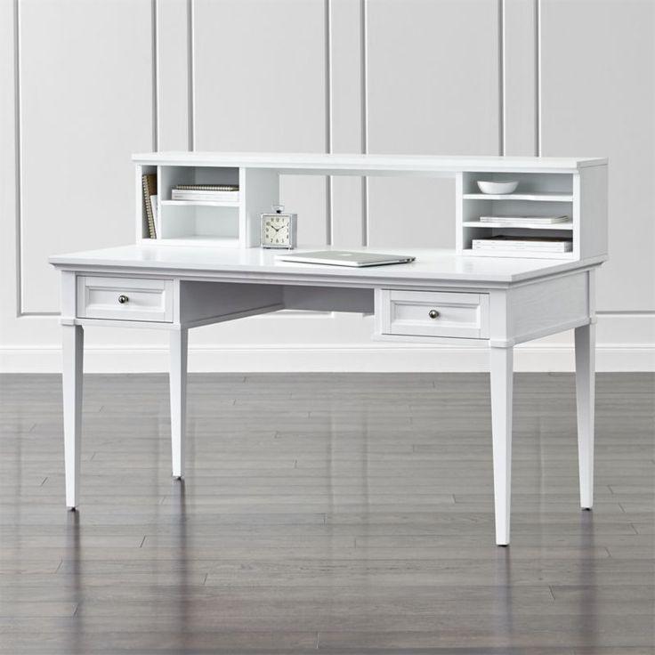 best 25 white desk with hutch ideas on pinterest white desks desk with storage and desk with. Black Bedroom Furniture Sets. Home Design Ideas
