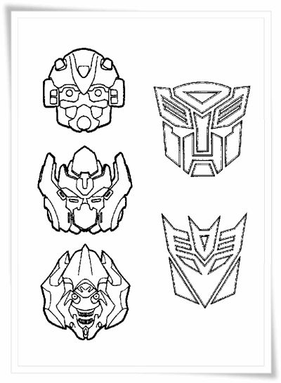 transformer happy birthday coloring pages - photo#20