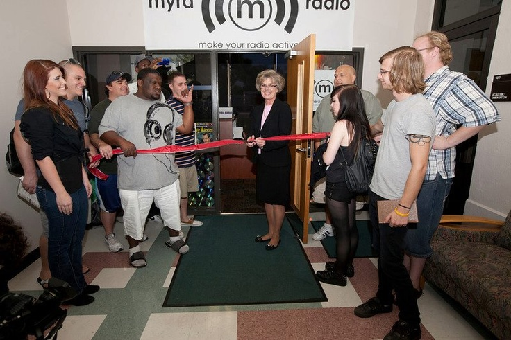 About 50 students, staff and faculty attended the launch party of MYRA, the Make Your Radio Active student radio station on Monday, Oct. 22 at the St. Petersburg/Gibbs Campus. #SPCollege