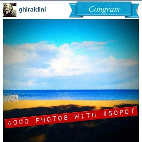 19.10.2012 #4000 photos with #Sopot tag @ghiraldini #poland #igers #igerspoland #igersgdansk #polska (at Sopot Beach)