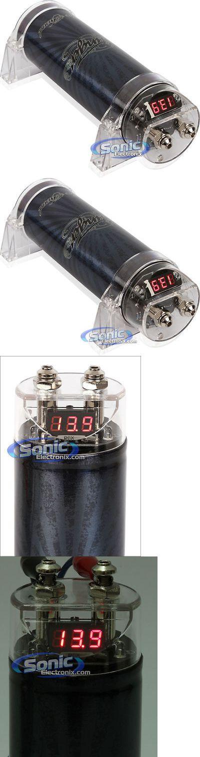17 best ideas about car audio capacitor subwoofer capacitors stinger spc111 1 farad 16v 20v black digital car audio capacitor w