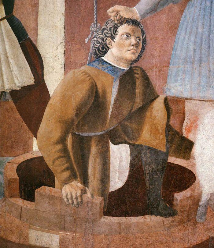 La Torture du Juif - Piero Della Francesca - 1452-1458 Technique Fresque 356x193cm Arezzo (Italie) Eglise San Francesco