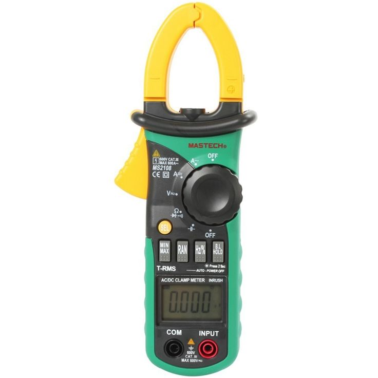 41.57$  Know more  - 1pcs MASTECH MS2108S True RMS Digital AC DC Current Clamp Meter Multimeter Capacitance Frequency Inrush Current Tester