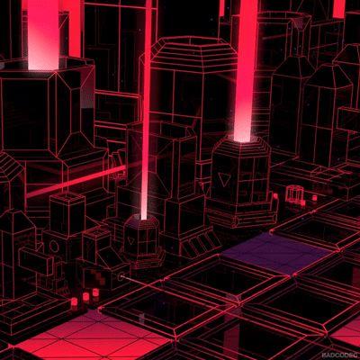 BADCODEC animation loop 3d red