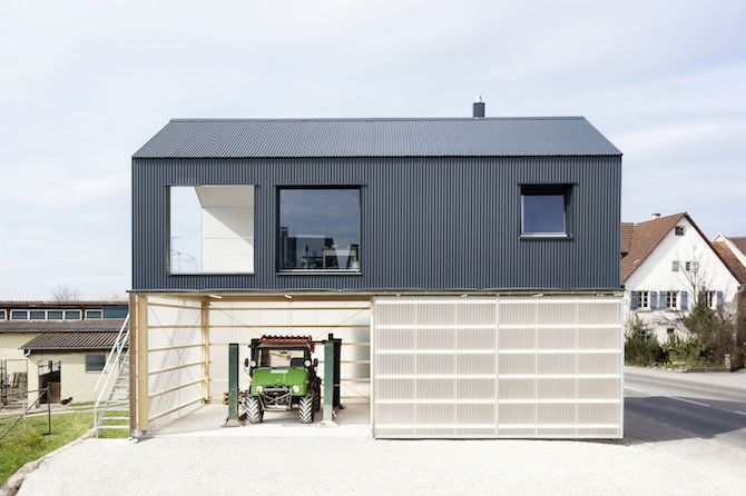 Fascinating Haus Unimog in Germany by Fabian Evers Architecture and Wezel Architektur that Stores a Truck Underneath | Wave Avenue