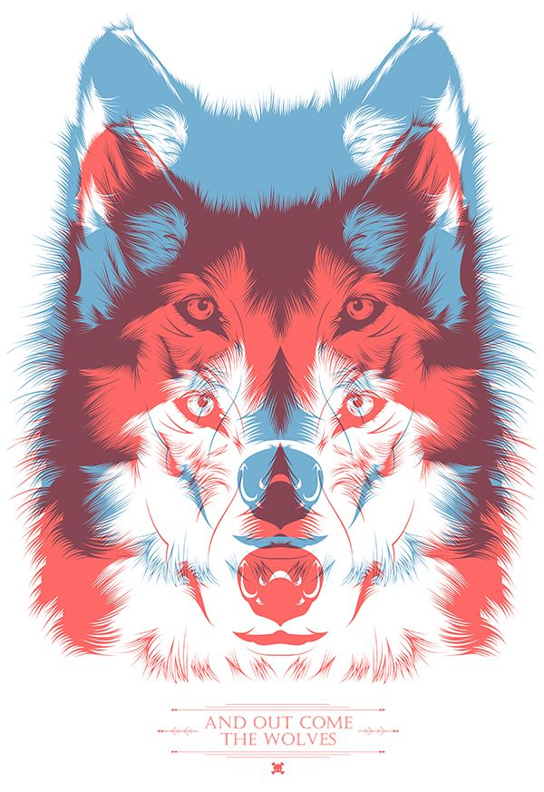 """""""And out come the wolves"""" // Tshirt design by CranioDsgn, via Behance"""