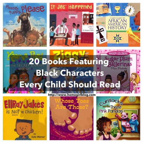 20 Books Featuring Black Characters Every Child Should Read