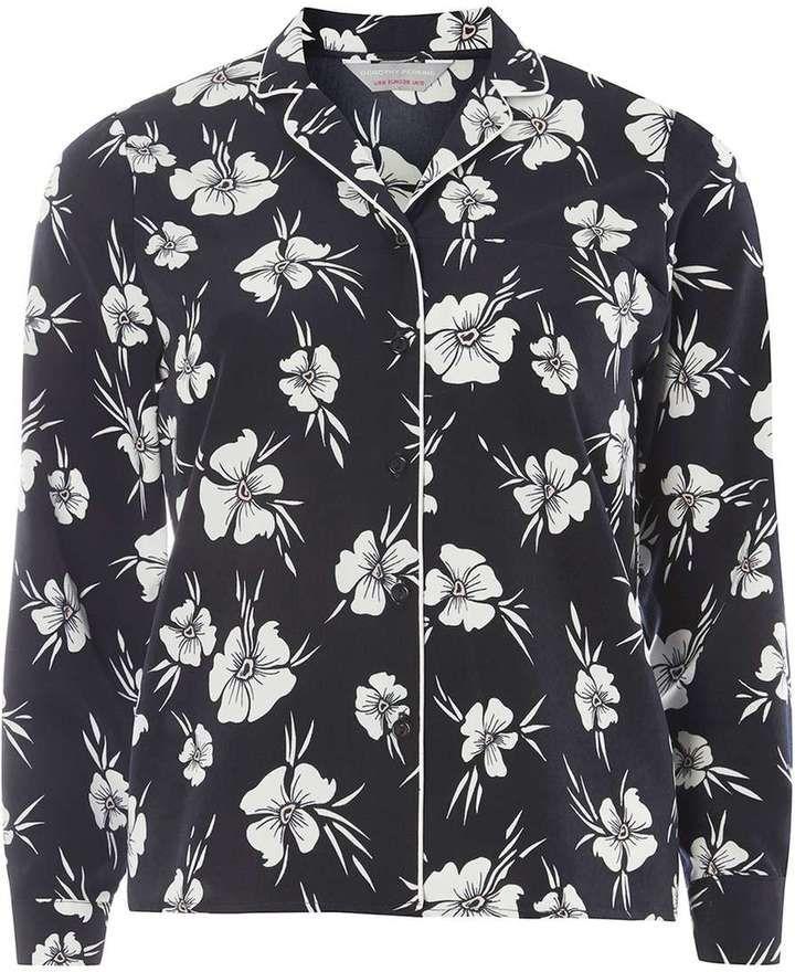 Petite Floral Collar Shirt