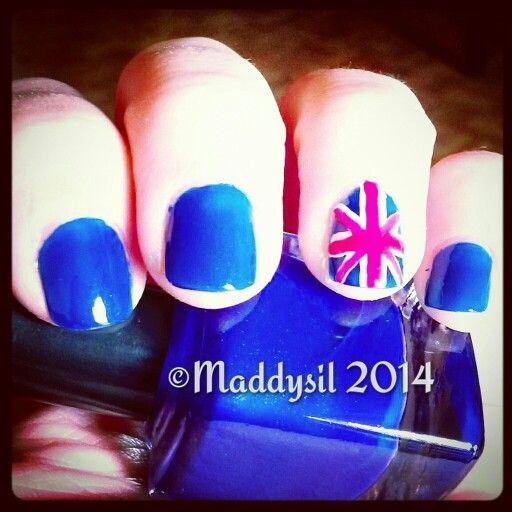 Mis Uñas #Maddysil #NailArt #British #flag / #Uñas #Bandera #Britanica