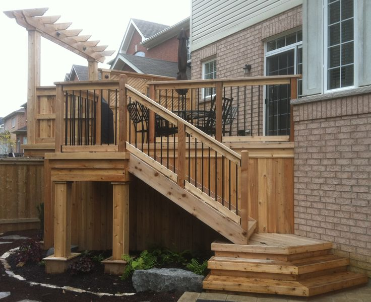 18 best images about deck stairs on pinterest for What is the best wood for decking