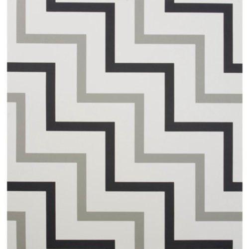 Lee Jofa ZIG ZAG PAPER BLACK/GREY Wallpaper