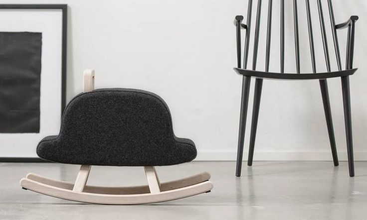 Sweet and huggable rocker 'hat' from Maison Deux. Cute minimalistic design. Interior design. Kids room inspiration and ideas.