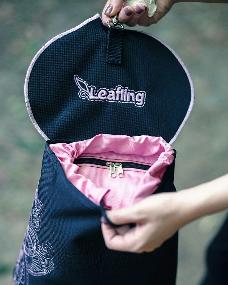 #leafling #leaflingbags #lilac #logo #embroidery #minibackpack #handmade