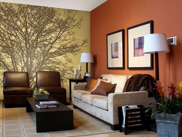 Tree Hugger Tella Mural Golden Brown - Wall Sticker Outlet
