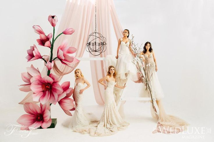 Amalfi Shoot - Wedluxe #magnolia#bride#weddingdress#backdrop##pink#white