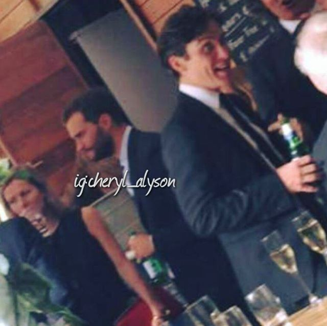 "Throwback to Jamie and Cillian at the ""Anthropoid"" after-party. ""On working alongside man of the moment Dornan, Murphy says, 'the man is an ogre.'""  #jamiedornan #cillianmurphy #anthropoid"