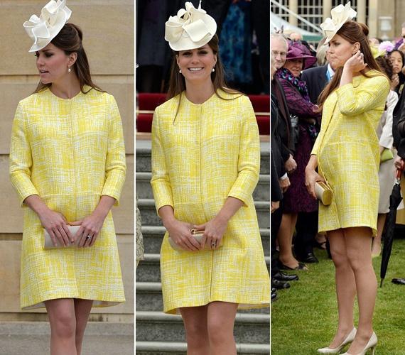 Csak úgy ragyogott! Katalin hercegné kanárisárga ruhában keltett feltűnést | femina.hu