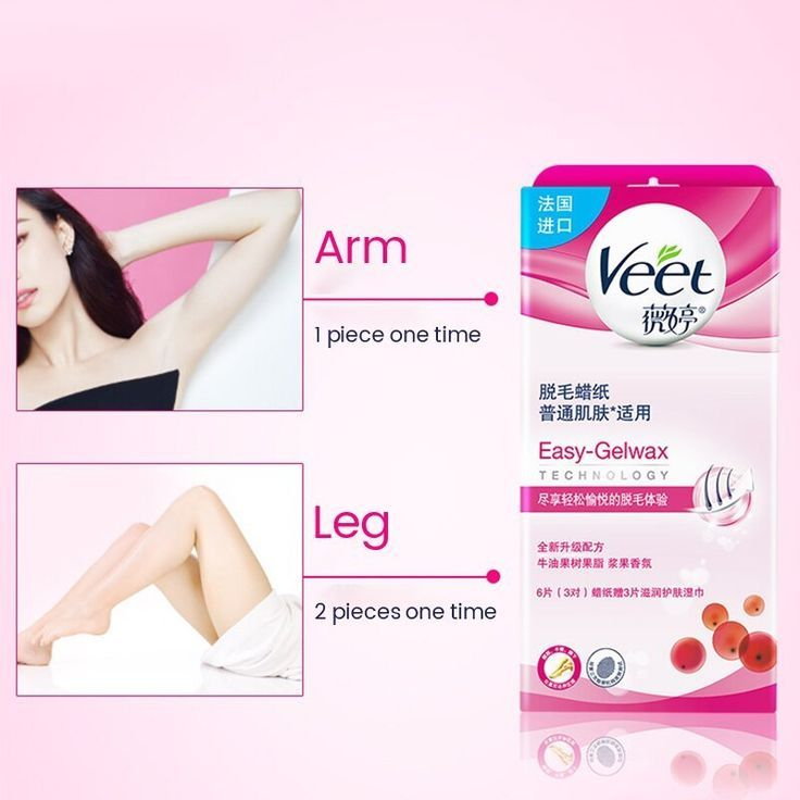Veet Hair Removal Wax Paper Cold Wax Strips Berry Fragrance No