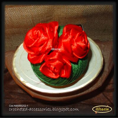 I love to make silk ribbon roses