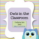 This packet contains everything you need for an owl-themed classroom!  It includes:   ~ welcome banner  ~ group numbers  ~ lunch chart  ~ dail...