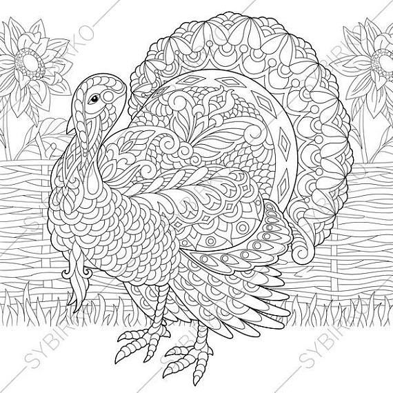 Coloring Page For Adults Digital Coloring Page Thanksgiving Etsy Thanksgiving Coloring Pages Fall Coloring Pages Coloring Books
