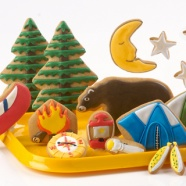 Eleni's Summer Camping Cookies-she loves the flashlight and the moon and stars