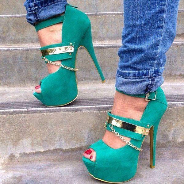 Fashion high heel # lovin this:)