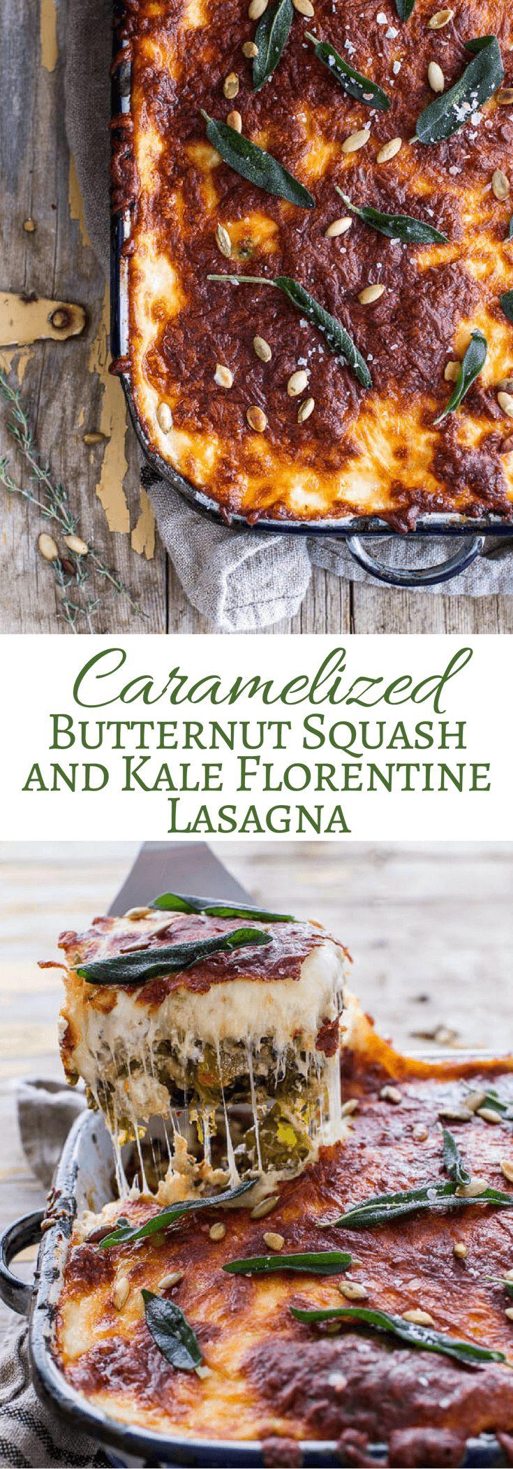 Caramelized Butternut Squash and Kale Florentine Lasagna | halfbakedharvest.com @hbharvest