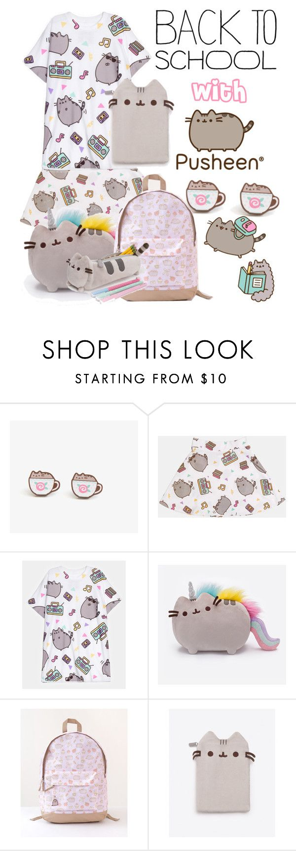 """""""#PVxPusheen Going back to school Pusheen style."""" by sarah-michelle-thompson ❤ liked on Polyvore featuring Pusheen, contestentry and PVxPusheen"""