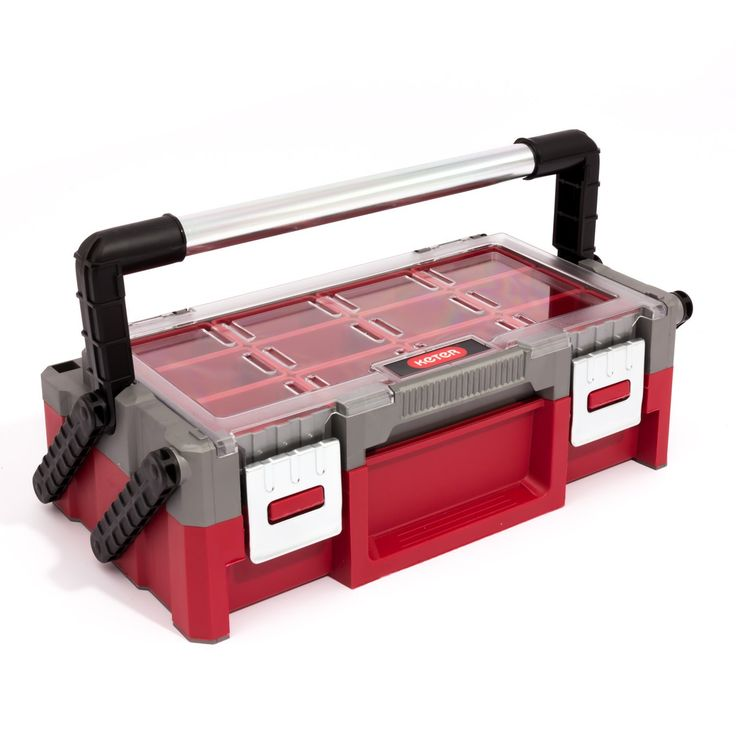 "Boite a outils organiseur Curver Keter 18"" rouge petites pieces ordre"