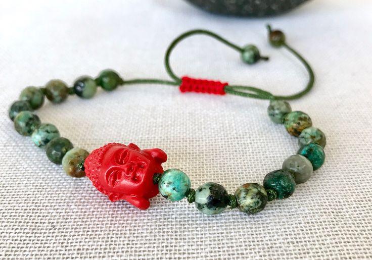 Buddha mala bracelet african turquoise mala bracelet gemstones bracelet yoga bracelet meditation bracelet prayer beads mala bracelet by Katiaicrafts on Etsy