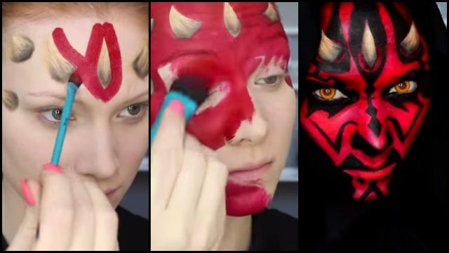 This may not be a galaxy far, far away, but looking like a Star Wars villain isn't all that difficult. MadeYewLook's latest makeup creation shows viewers how to make themselves look like Episode I baddie, Darth Maul. Despite his iconic horns, this awesome look doesn't require prosthetics.