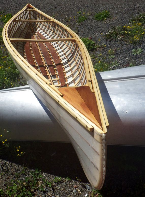Double Paddle Canoe Skin On Frame Boats Wooden Boat