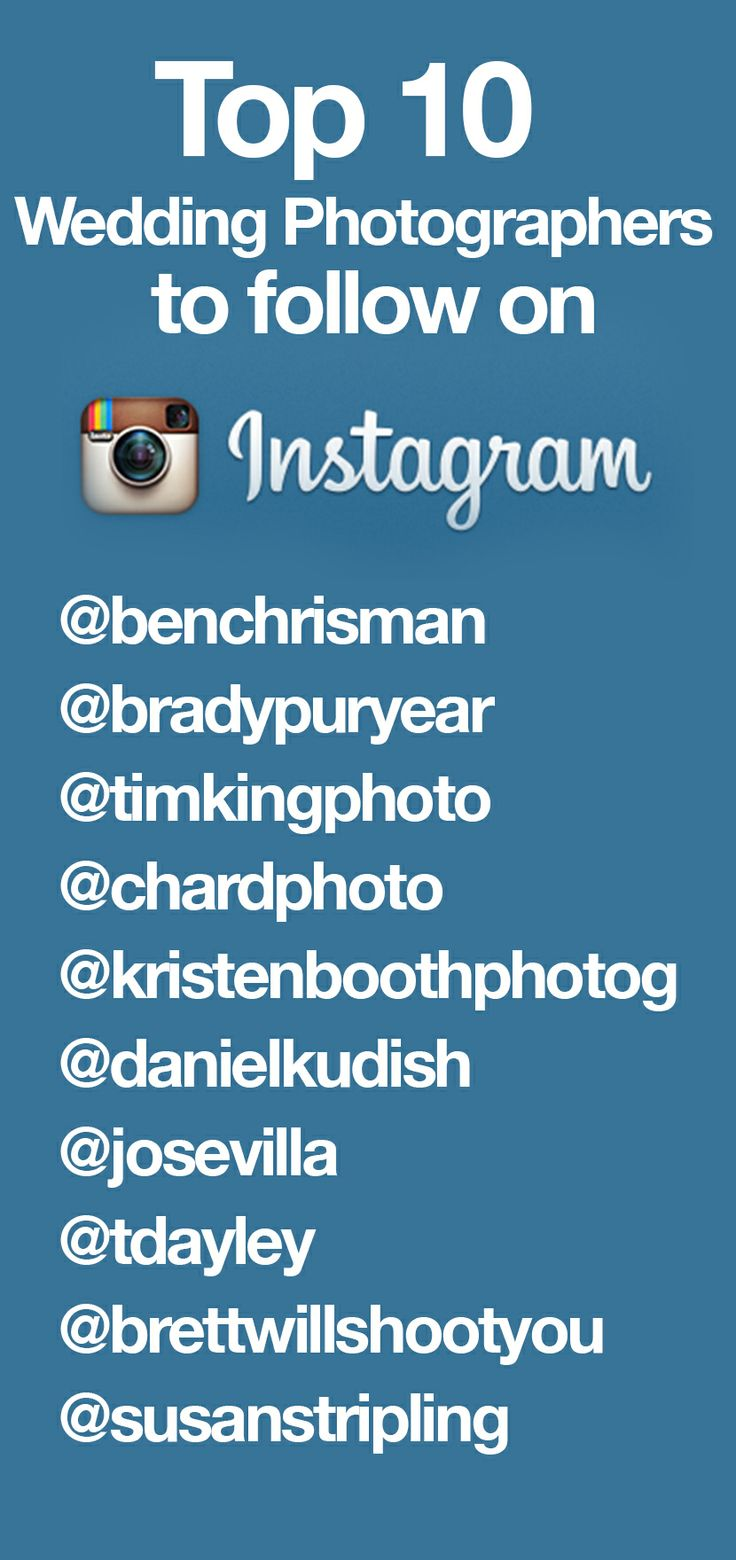 The Top 10 Wedding Photographers to follow on Instagram!!!! #instagram #instawedding #wedding #photography #dress #bride